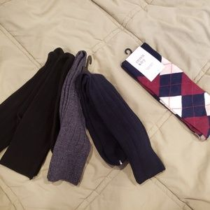 Other - Mens dress socks new 5 pair size large 8-12